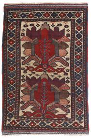 Kilim Golbarjasta Tappeto 90X140 Orientale Tessuto A Mano Blu Scuro/Marrone Scuro (Lana, Afghanistan)