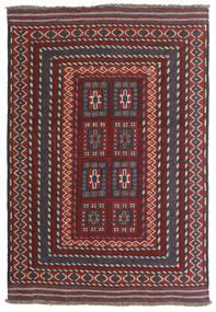 Kilim Golbarjasta Tappeto 90X130 Orientale Tessuto A Mano Rosso Scuro/Marrone Scuro (Lana, Afghanistan)