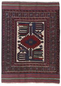 Kilim Golbarjasta Tappeto 95X130 Orientale Tessuto A Mano Nero/Rosso Scuro (Lana, Afghanistan)