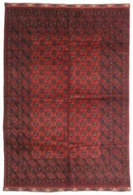 Afghan Tappeto 197X284 Orientale Fatto A Mano Rosso Scuro/Marrone Scuro (Lana, Afghanistan)