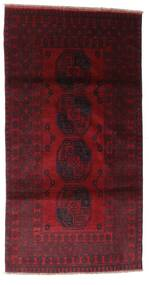 Afghan Tappeto 103X196 Orientale Fatto A Mano Rosso Scuro (Lana, Afghanistan)