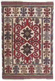 Kilim Golbarjasta Tappeto 100X145 Orientale Tessuto A Mano Grigio Scuro/Rosso Scuro (Lana, Afghanistan)