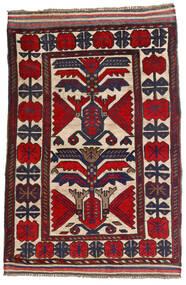 Kilim Golbarjasta Tappeto 100X140 Orientale Tessuto A Mano Grigio Scuro/Ruggine/Rosso (Lana, Afghanistan)