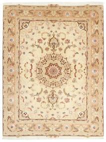 Tabriz 50 Raj Tappeto 153X208 Orientale Fatto A Mano Beige/Beige Scuro (Lana/Seta, Persia/Iran)