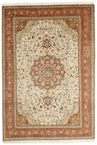Tabriz 50 Raj Tappeto 202X305 Orientale Fatto A Mano Marrone/Beige (Lana/Seta, Persia/Iran)