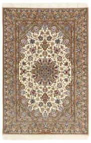 Isfahan Ordito In Seta Tappeto 112X174 Orientale Fatto A Mano Beige/Marrone Chiaro (Lana/Seta, Persia/Iran)