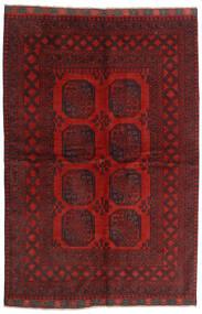 Afghan Tappeto 162X239 Orientale Fatto A Mano Rosso Scuro/Marrone Scuro (Lana, Afghanistan)