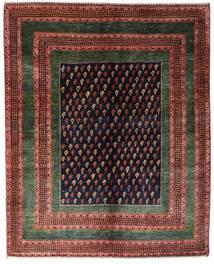 Gabbeh Kashkooli Tappeto 151X190 Moderno Fatto A Mano Rosso Scuro/Marrone Scuro (Lana, Persia/Iran)