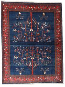 Gabbeh Kashkooli Tappeto 154X200 Moderno Fatto A Mano Porpora Scuro/Blu Scuro (Lana, Persia/Iran)