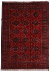 Kunduz Tappeto 200X284 Orientale Fatto A Mano Rosso Scuro (Lana, Afghanistan)