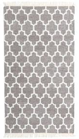Bambù Di Seta Kilim Tappeto 90X160 Moderno Tessuto A Mano Grigio Chiaro/Bianco/Creme (Lana/Seta Di Bambù, India)