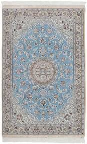 Nain 9La Tappeto 115X178 Orientale Fatto A Mano Grigio Chiaro/Azzurro (Lana/Seta, Persia/Iran)