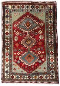 Ghashghai Tappeto 136X197 Orientale Fatto A Mano Rosso Scuro/Grigio Scuro (Lana, Persia/Iran)