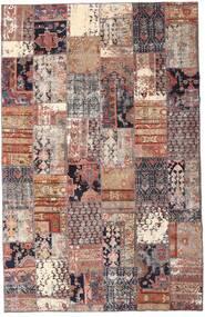 Patchwork - Persien/Iran Tappeto 195X298 Moderno Fatto A Mano Rosso Scuro/Beige (Lana, Persia/Iran)