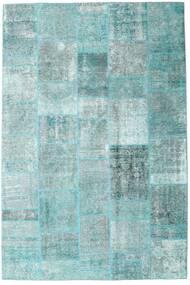 Patchwork - Persien/Iran Tappeto 205X303 Moderno Fatto A Mano Azzurro/Verde Pastello/Blu Turchese (Lana, Persia/Iran)
