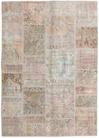 Patchwork - Persien/Iran Tappeto 141X200 Moderno Fatto A Mano Grigio Chiaro/Marrone Chiaro (Lana, Persia/Iran)