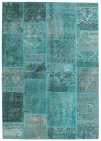 Patchwork - Persien/Iran Tappeto 140X200 Moderno Fatto A Mano Blu Turchese/Blu Turchese (Lana, Persia/Iran)