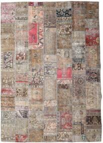 Patchwork - Persien/Iran Tappeto 252X354 Moderno Fatto A Mano Grigio Chiaro/Marrone Scuro Grandi (Lana, Persia/Iran)