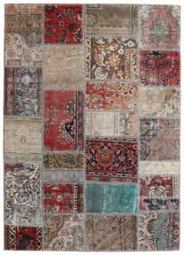 Patchwork - Persien/Iran Tappeto 141X198 Moderno Fatto A Mano Grigio Chiaro/Rosso Scuro (Lana, Persia/Iran)