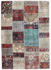 Patchwork - Persien/Iran Tappeto 141X202 Moderno Fatto A Mano Grigio Chiaro/Grigio Scuro (Lana, Persia/Iran)