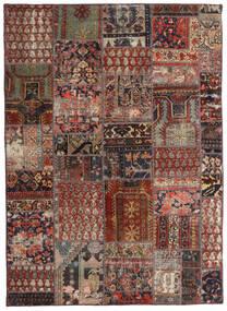 Patchwork - Persien/Iran Tappeto 144X201 Moderno Fatto A Mano Rosso Scuro/Marrone Scuro/Marrone Chiaro (Lana, Persia/Iran)