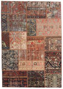 Patchwork - Persien/Iran Tappeto 140X198 Moderno Fatto A Mano Rosso Scuro/Marrone Chiaro/Marrone Scuro (Lana, Persia/Iran)