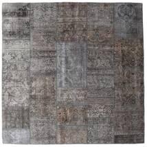 Patchwork - Persien/Iran Tappeto 204X204 Moderno Fatto A Mano Quadrato Grigio Scuro/Grigio Chiaro/Marrone (Lana, Persia/Iran)