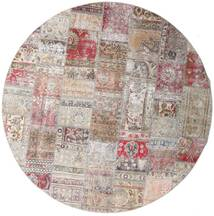Patchwork - Persien/Iran Tappeto Ø 250 Moderno Tessuto A Mano Rotondo Grigio Chiaro/Violet Clair Grandi (Lana, Persia/Iran)