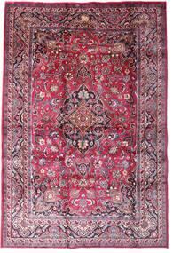Mashad Tappeto 198X290 Orientale Fatto A Mano Porpora Scuro/Rosa Chiaro (Lana, Persia/Iran)
