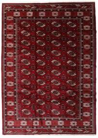 Turkaman Tappeto 204X285 Orientale Fatto A Mano Rosso Scuro/Marrone Scuro (Lana, Persia/Iran)