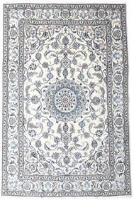 Nain Tappeto 191X287 Orientale Fatto A Mano Bianco/Creme/Grigio Chiaro (Lana, Persia/Iran)