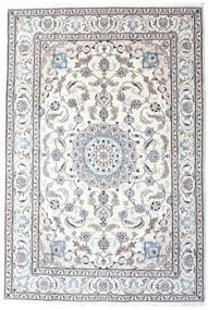 Nain Tappeto 200X295 Orientale Fatto A Mano Bianco/Creme/Grigio Chiaro/Beige (Lana, Persia/Iran)