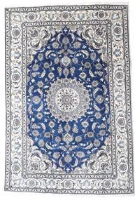 Nain Tappeto 195X290 Orientale Fatto A Mano Grigio Chiaro/Bianco/Creme (Lana, Persia/Iran)