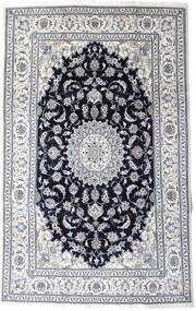 Nain Tappeto 197X313 Orientale Fatto A Mano Grigio Chiaro/Nero (Lana, Persia/Iran)