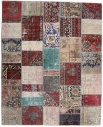 Patchwork - Persien/Iran Tappeto 200X246 Moderno Fatto A Mano Grigio Chiaro/Rosso Scuro (Lana, Persia/Iran)