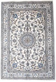 Nain Tappeto 198X290 Orientale Fatto A Mano Beige/Grigio Scuro/Bianco/Creme (Lana, Persia/Iran)