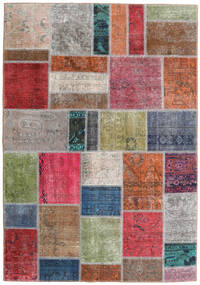 Patchwork - Persien/Iran Tappeto 163X234 Moderno Fatto A Mano Grigio Chiaro/Ruggine/Rosso (Lana, Persia/Iran)