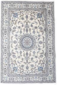 Nain Tappeto 189X283 Orientale Fatto A Mano Grigio Chiaro/Beige/Bianco/Creme (Lana, Persia/Iran)
