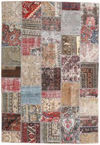 Patchwork - Persien/Iran Tappeto 163X239 Moderno Fatto A Mano Grigio Chiaro/Marrone Chiaro (Lana, Persia/Iran)