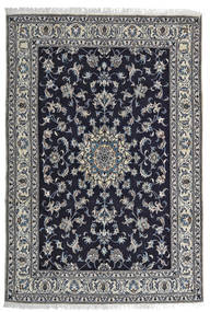 Nain Tappeto 164X242 Orientale Fatto A Mano Nero/Grigio Chiaro (Lana, Persia/Iran)