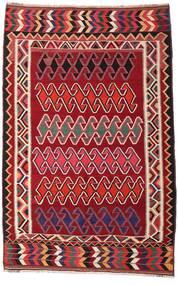 Kilim Vintage Tappeto 147X234 Orientale Tessuto A Mano Rosso Scuro/Bianco/Creme (Lana, Persia/Iran)
