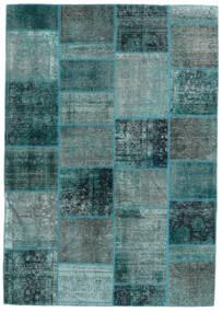 Patchwork - Persien/Iran Tappeto 167X236 Moderno Fatto A Mano Blu Turchese/Turchese Scuro (Lana, Persia/Iran)