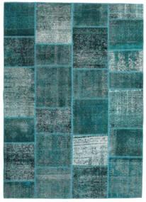 Patchwork - Persien/Iran Tappeto 165X233 Moderno Fatto A Mano Turchese Scuro/Blu Turchese (Lana, Persia/Iran)