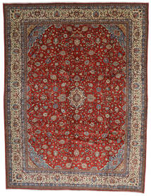 Saruk Tappeto 325X425 Orientale Fatto A Mano Marrone Scuro/Rosso Scuro Grandi (Lana, Persia/Iran)