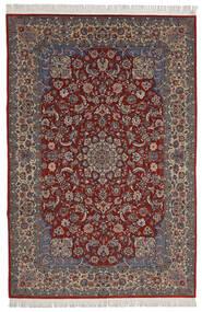 Isfahan Sherkat Farsh Tappeto 200X300 Orientale Fatto A Mano Rosso Scuro/Marrone Scuro (Lana/Seta, Persia/Iran)