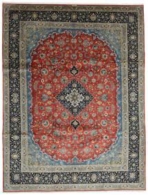 Keshan Tappeto 296X388 Orientale Fatto A Mano Grigio Scuro/Verde Scuro Grandi (Lana, Persia/Iran)