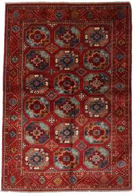 Moderni Afghan Tappeto 137X201 Moderno Fatto A Mano Rosso Scuro (Lana, Afghanistan)