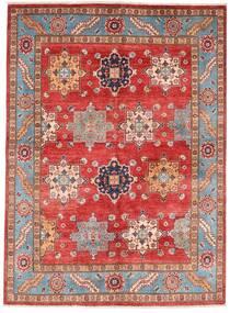 Kazak Tappeto 151X206 Orientale Fatto A Mano Rosso Scuro/Ruggine/Rosso (Lana, Afghanistan)