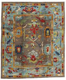 Kazak Tappeto 244X290 Orientale Fatto A Mano Marrone/Grigio Chiaro (Lana, Afghanistan)