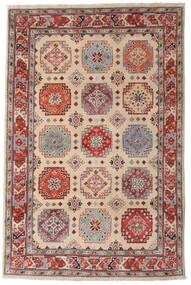 Kazak Tappeto 118X179 Orientale Fatto A Mano Marrone Scuro/Grigio Chiaro (Lana, Afghanistan)